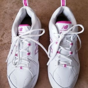 New Balance white sneakers 608-v4 pink detail 10M